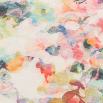 コットン×フラワー(ピンク)×天竺ニット_全3色