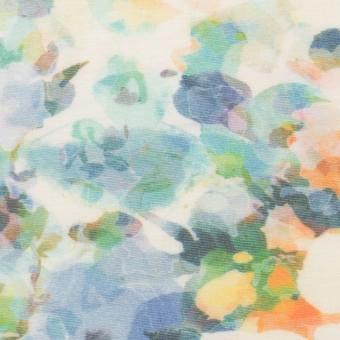 コットン×フラワー(ブルー)×天竺ニット_全3色