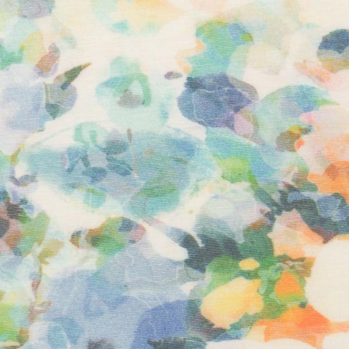 コットン×フラワー(ブルー)×天竺ニット_全3色 イメージ1