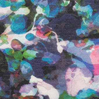 コットン×フラワー(ネイビー)×天竺ニット_全3色