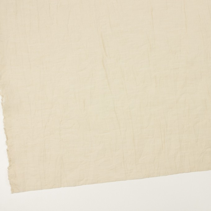 コットン&ナイロン×無地(ベージュ)×オーガンジー・ワッシャー_全3色 イメージ2