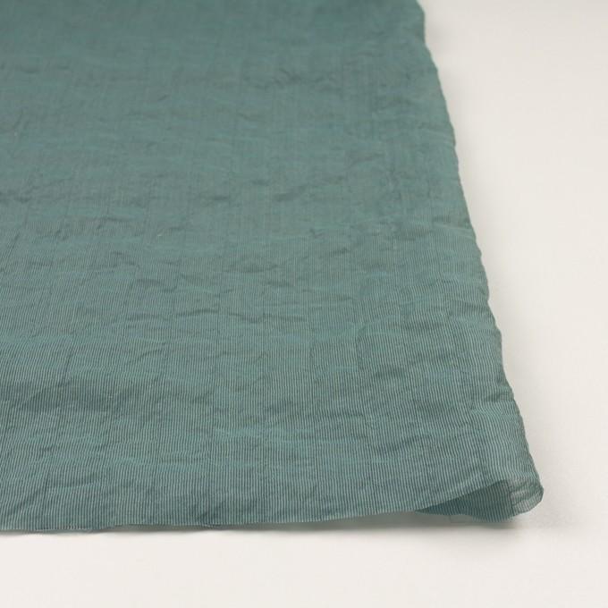 コットン&シルク混×ストライプ(シーグリーン)×オーガンジー・ワッシャー イメージ3