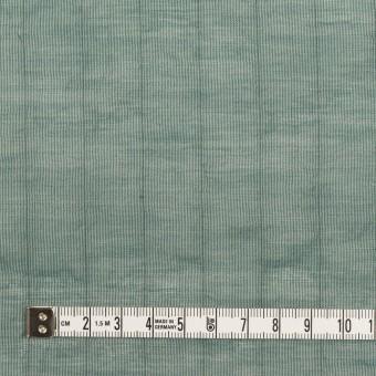コットン&シルク混×ストライプ(シーグリーン)×オーガンジー・ワッシャー サムネイル4