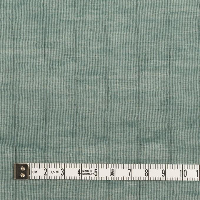 コットン&シルク混×ストライプ(シーグリーン)×オーガンジー・ワッシャー イメージ4