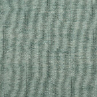 コットン&シルク混×ストライプ(シーグリーン)×オーガンジー・ワッシャー サムネイル1