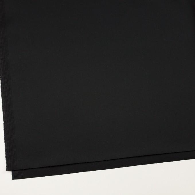 コットン&ポリウレタン×無地(ブラック)×サテンストレッチ イメージ2
