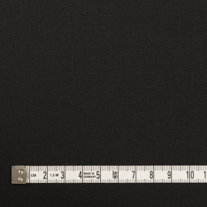 コットン&ポリウレタン×無地(ブラック)×サテンストレッチ イメージ4