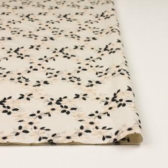 コットン×フラワー(キナリ&ブラック)×スムースニット刺繍 サムネイル3