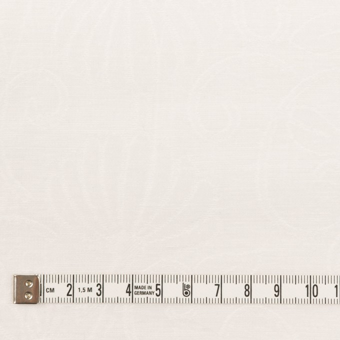 リネン&ナイロン×フラワー(オフホワイト)×オーガンジー・ジャガード_全3色 イメージ4