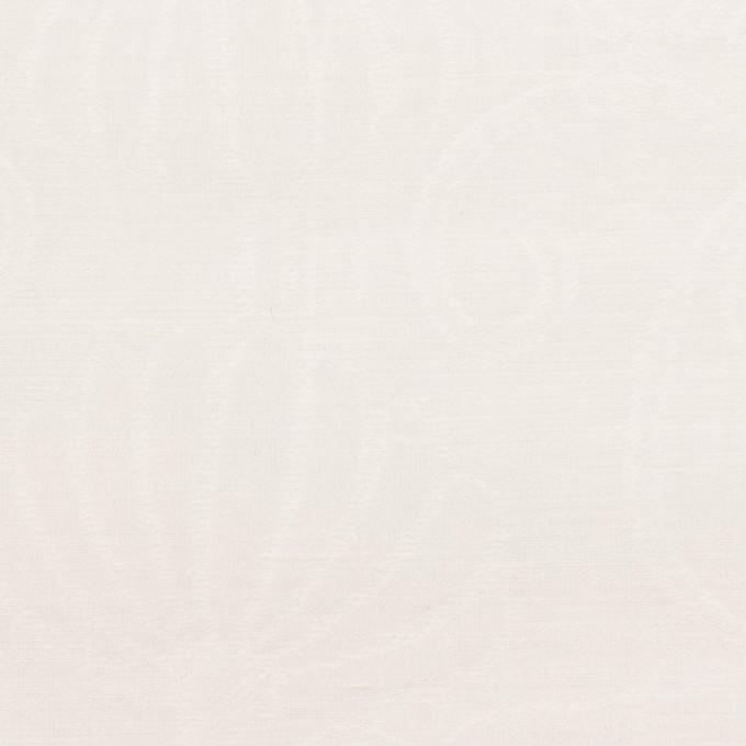 リネン&ナイロン×フラワー(オフホワイト)×オーガンジー・ジャガード_全3色 イメージ1