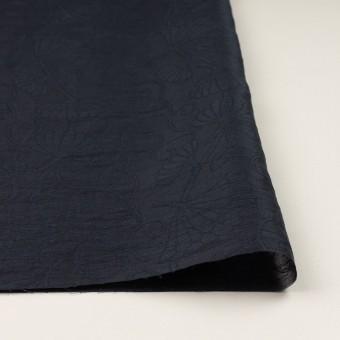 リネン&ナイロン×フラワー(ネイビー)×オーガンジー・ジャガード_全3色 サムネイル3