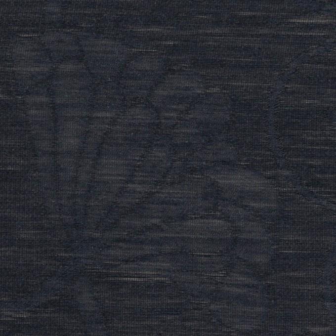 リネン&ナイロン×フラワー(ネイビー)×オーガンジー・ジャガード_全3色 イメージ1
