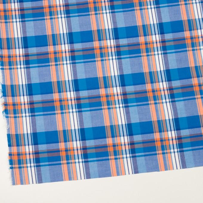コットン×チェック(ブルー&オレンジ)×ブロード イメージ2