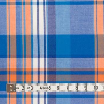 コットン×チェック(ブルー&オレンジ)×ブロード サムネイル4