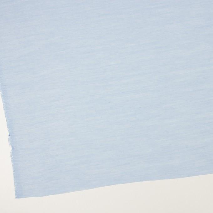 コットン&レーヨン×無地(サックス)×ボイル イメージ2