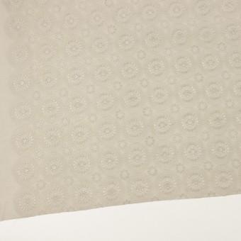 コットン×フラワー(グレイッシュベージュ)×ローン刺繍_全6色 サムネイル2
