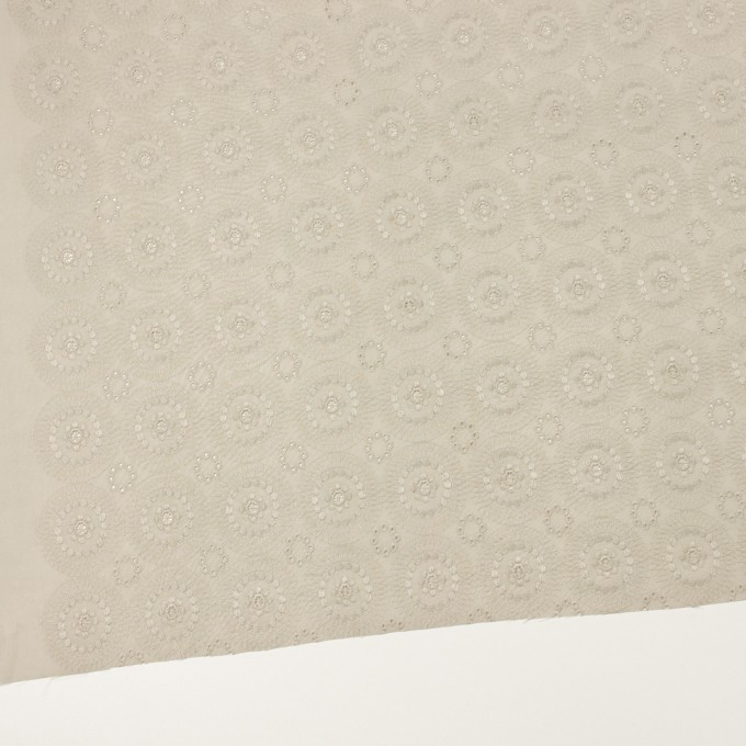 コットン×フラワー(グレイッシュベージュ)×ローン刺繍_全6色 イメージ2