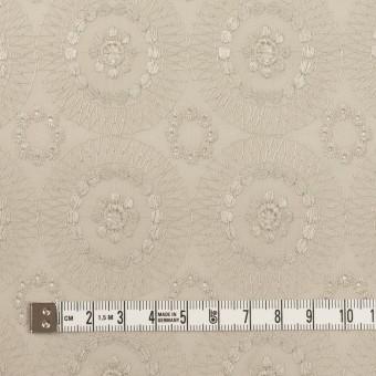 コットン×フラワー(グレイッシュベージュ)×ローン刺繍_全6色 サムネイル4