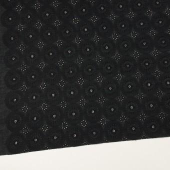 コットン×フラワー(ブラック)×ローン刺繍_全6色 サムネイル2