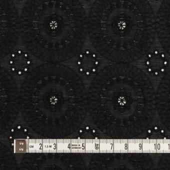コットン×フラワー(ブラック)×ローン刺繍_全6色 サムネイル4