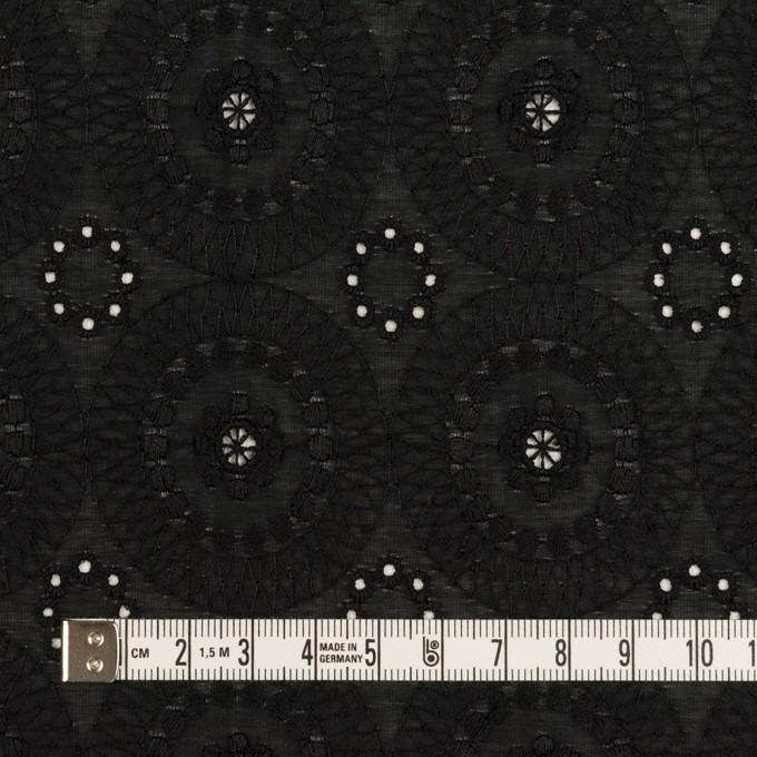 コットン×フラワー(ブラック)×ローン刺繍_全6色 イメージ4