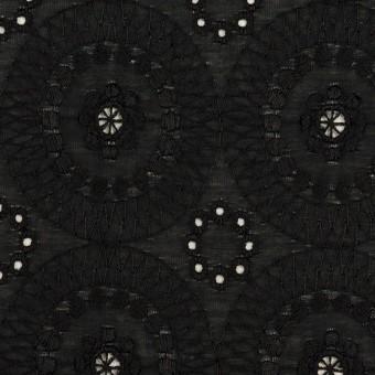 コットン×フラワー(ブラック)×ローン刺繍_全6色 サムネイル1