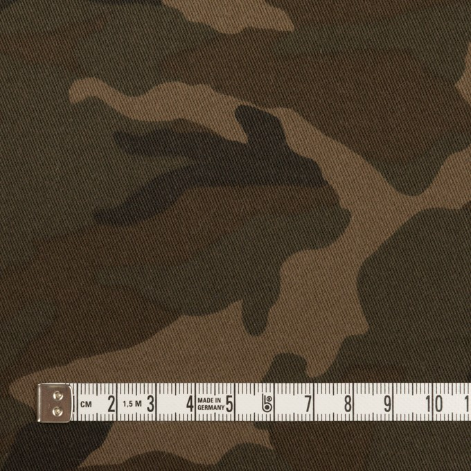 コットン&ポリウレタン×迷彩(ライトカーキブラウン)×チノクロス・ストレッチ_全3色 イメージ4
