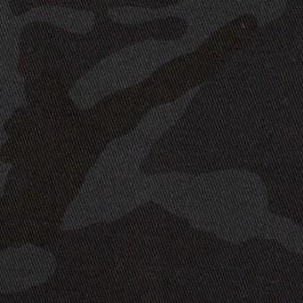 コットン&ポリウレタン×迷彩(チャコール)×チノクロス・ストレッチ_全3色