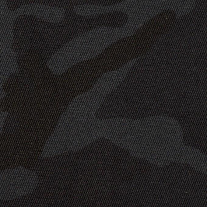 コットン&ポリウレタン×迷彩(チャコール)×チノクロス・ストレッチ_全3色 イメージ1