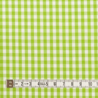 コットン×チェック(イエローグリーン)×ブロード_全3色 サムネイル4