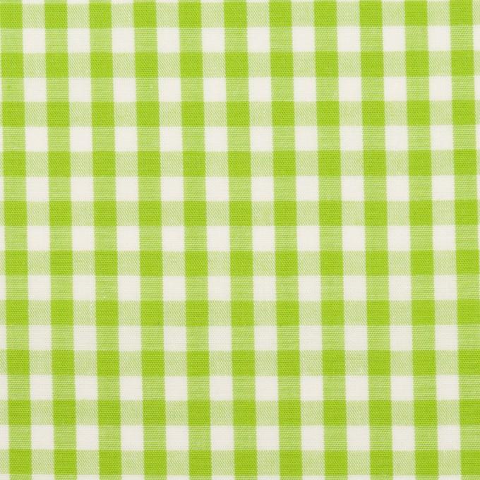 コットン×チェック(イエローグリーン)×ブロード_全3色 イメージ1