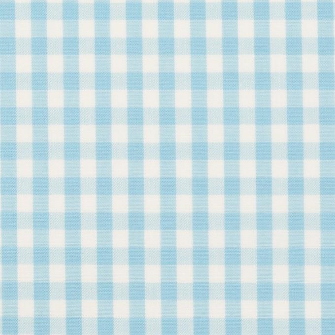 コットン×チェック(サックス)×ブロード_全3色 イメージ1