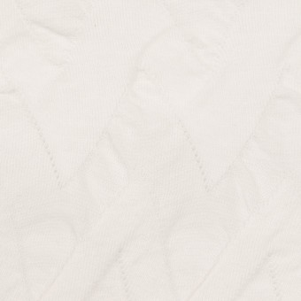 コットン×ウェーブ(ホワイト)×ジャガードニット