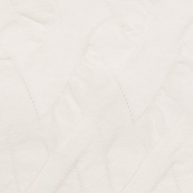 コットン×ウェーブ(ホワイト)×ジャガードニット イメージ1
