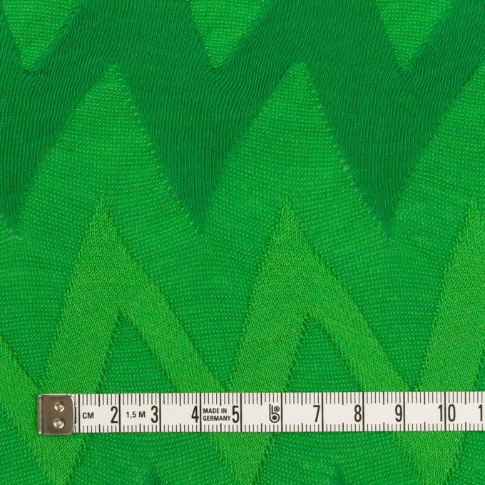 コットン×ウェーブ(グリーン)×ジャガードニット イメージ4