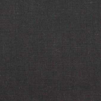コットン&リネン×無地(チャコールグレー)×シャンブレー