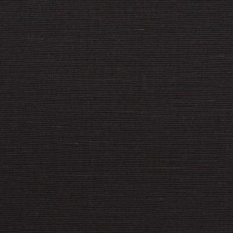 コットン&リネン×無地(チャコールブラック)×ポプリン