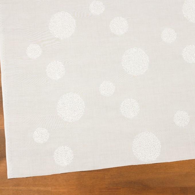 コットン×サークル(ホワイト)×ローン刺繍_全4色 イメージ2