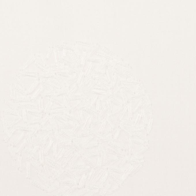 コットン×サークル(ホワイト)×ローン刺繍_全4色 イメージ1