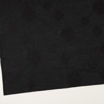 コットン×サークル(ブラック)×ローン刺繍_全4色 サムネイル2