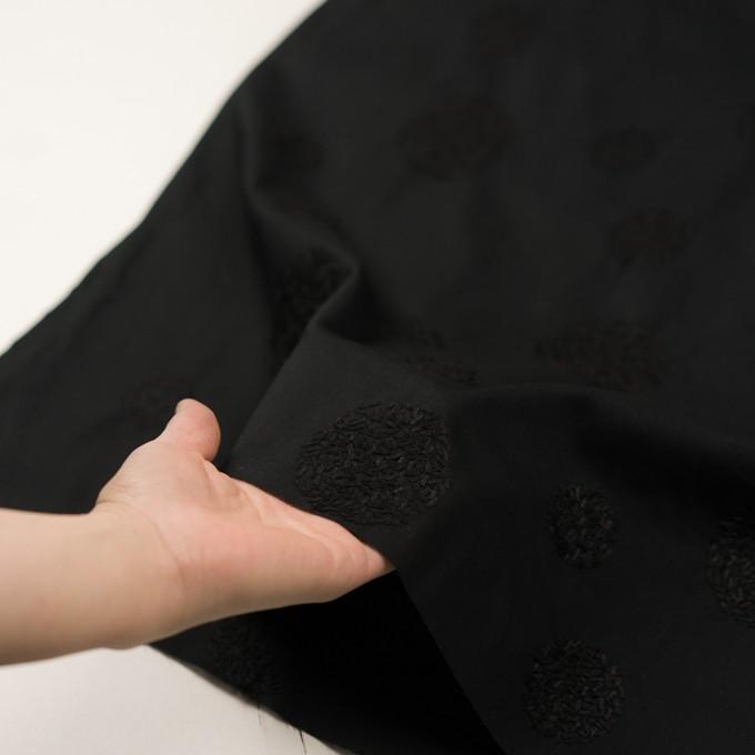 コットン×サークル(ブラック)×ローン刺繍_全4色 イメージ5