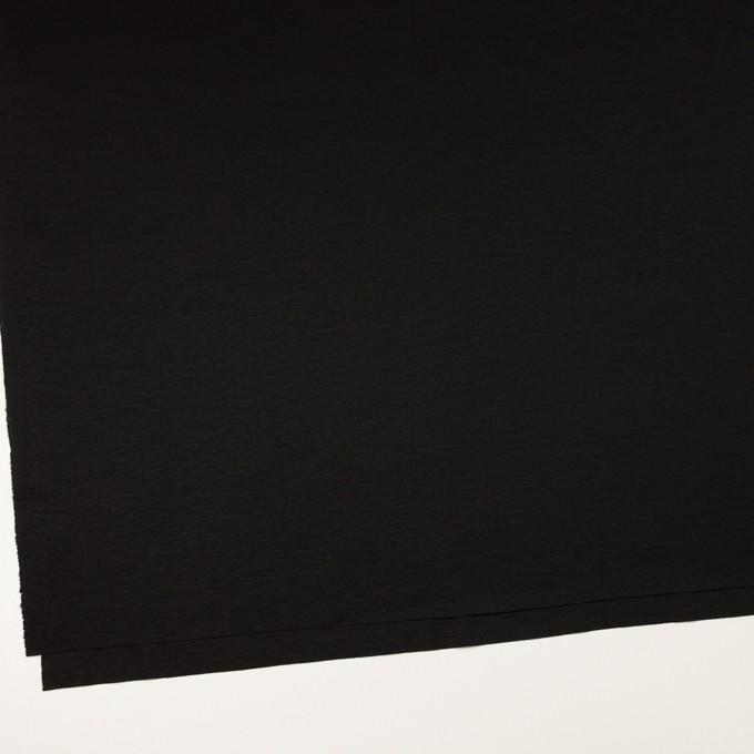 コットン&モダール×無地(ブラック)×スムースニット_全2色 イメージ2