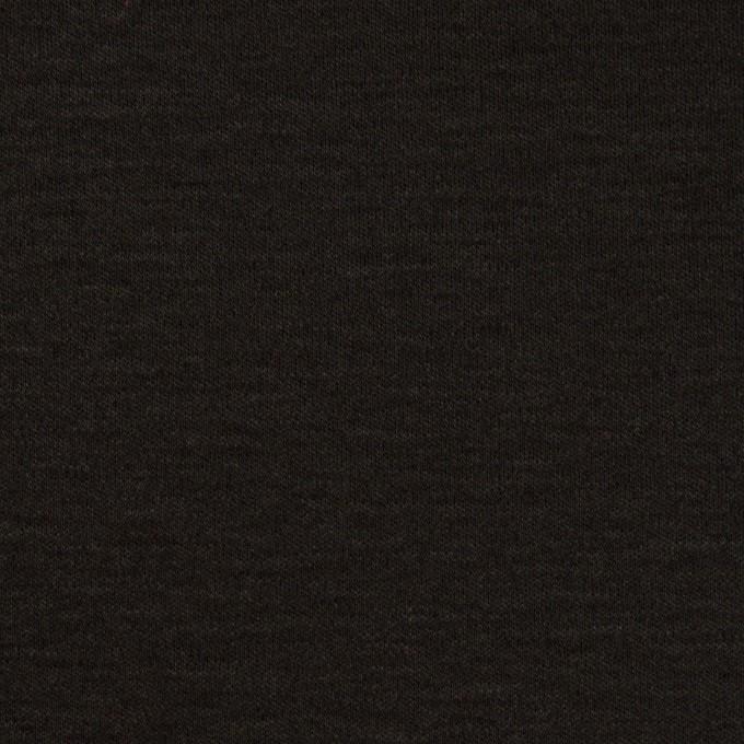 コットン&モダール×無地(ブラック)×スムースニット_全2色 イメージ1