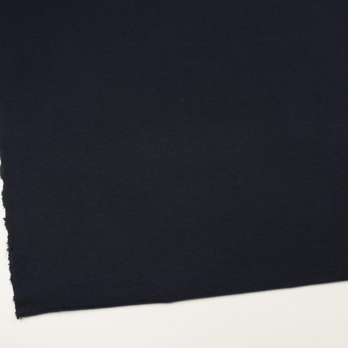 コットン&レーヨン×無地(ダークネイビー)×裏毛ニット イメージ2