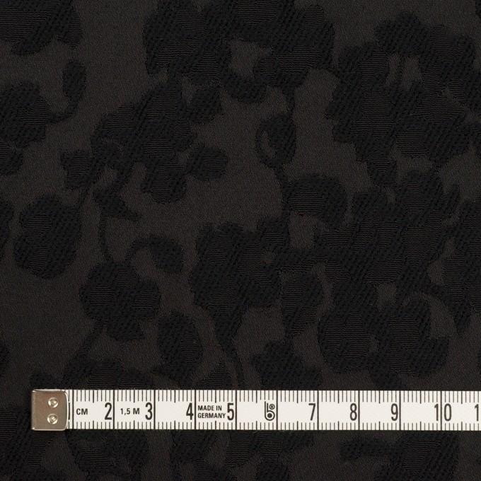コットン&ポリエステル×フラワー(ブラック)×ジャガード イメージ4