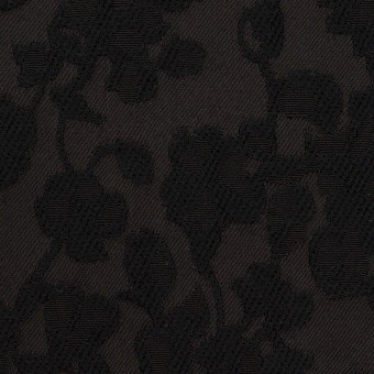 コットン&ポリエステル×フラワー(ブラック)×ジャガード