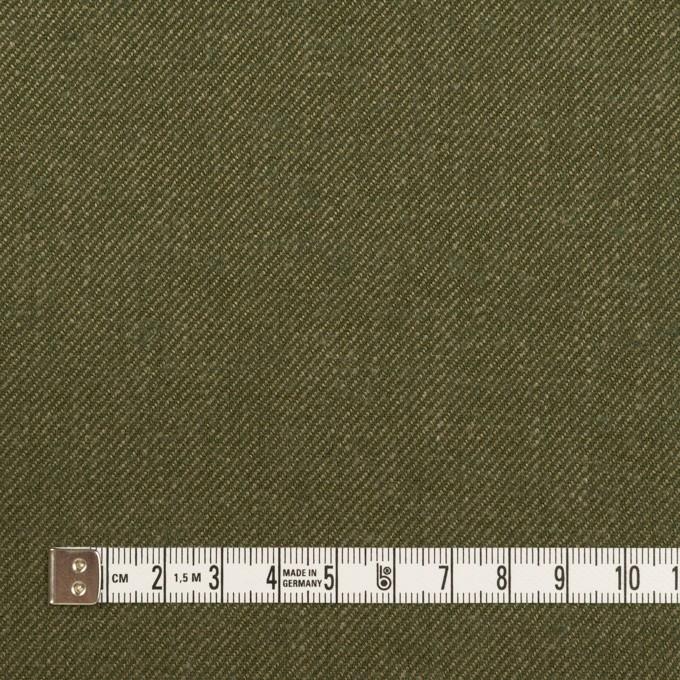 リネン&コットン×無地(カーキグリーン)×サージ_全2色 イメージ4
