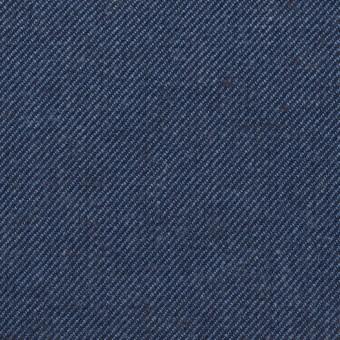 リネン&コットン×無地(ネイビーブルー)×サージ_全2色 サムネイル1