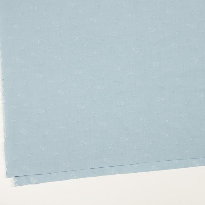 コットン×ペイズリー(スモーキーアイスブルー)×ブロードジャガード イメージ2