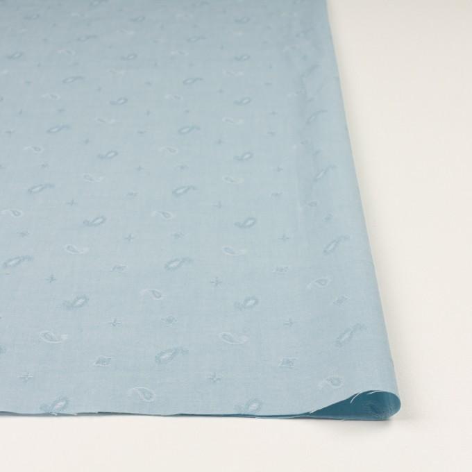 コットン×ペイズリー(スモーキーアイスブルー)×ブロードジャガード イメージ3